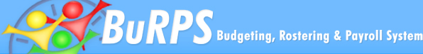 BuRPS - Budgeting Rostering & Payroll System